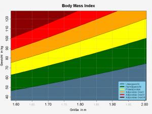 Die Einteilung und Bewertung des BMI - Grafik: